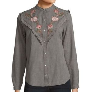 NWT | Lucky Brand | Embroidered Top